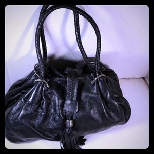 """Tiffany and Fred Leather Sachel 14.5"""" x 10"""" Nice"""